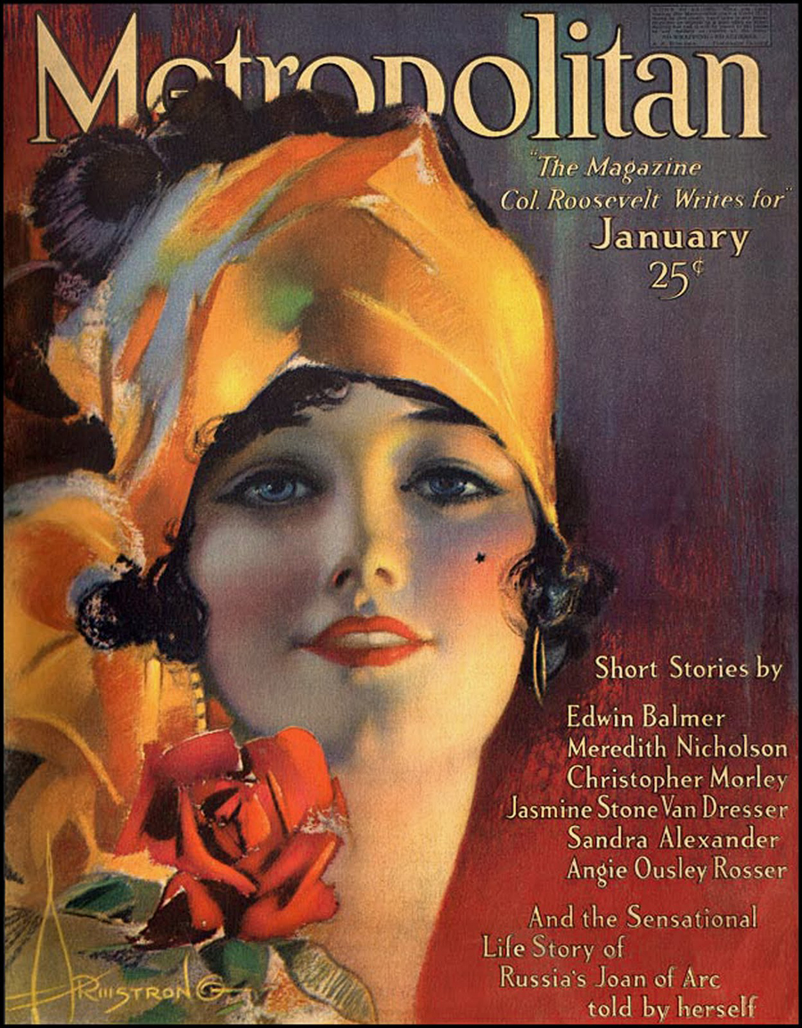 "Cover of ""Metropolitan"" magazine, January 1919"