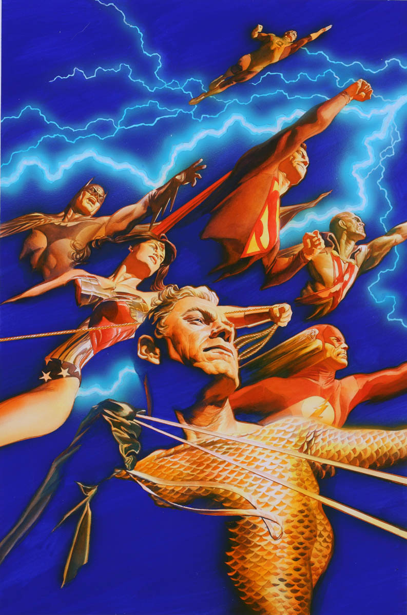 """Cover of """"Justice"""" #1, August 3, 2005"""