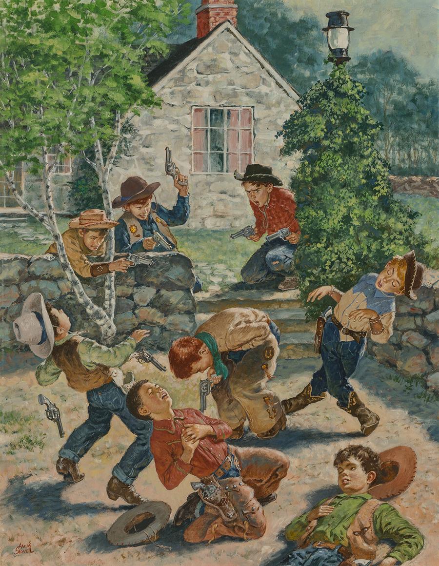 Kids Playing Cowboy