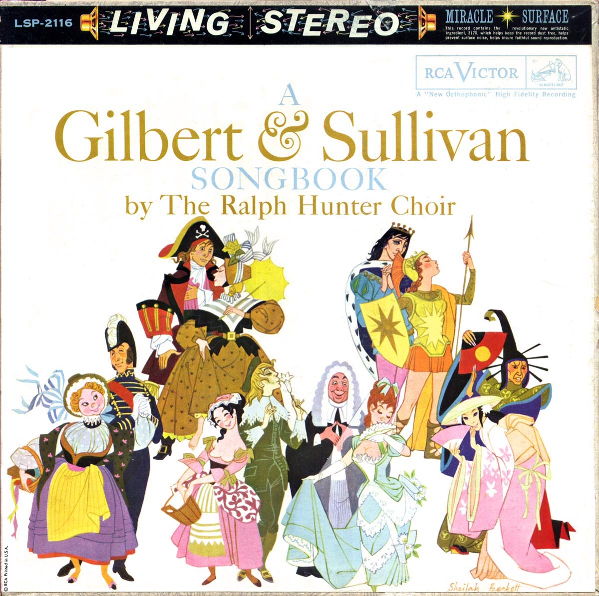 "Cover of ""A Gilbert & Sullivan Songbook by The Ralph Hunter Choir"" LP"
