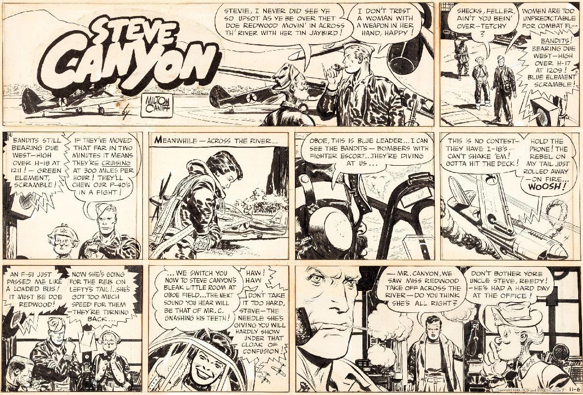 """""""Steve Canyon"""" comic strip"""