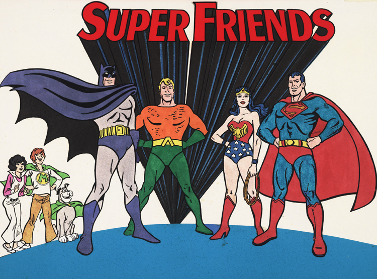 DC Animator Used Challange of the Super Friends Model Sheets 1978 RARE