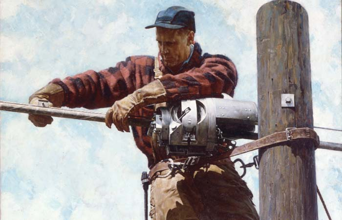 """""""The Lineman"""" [detail]"""