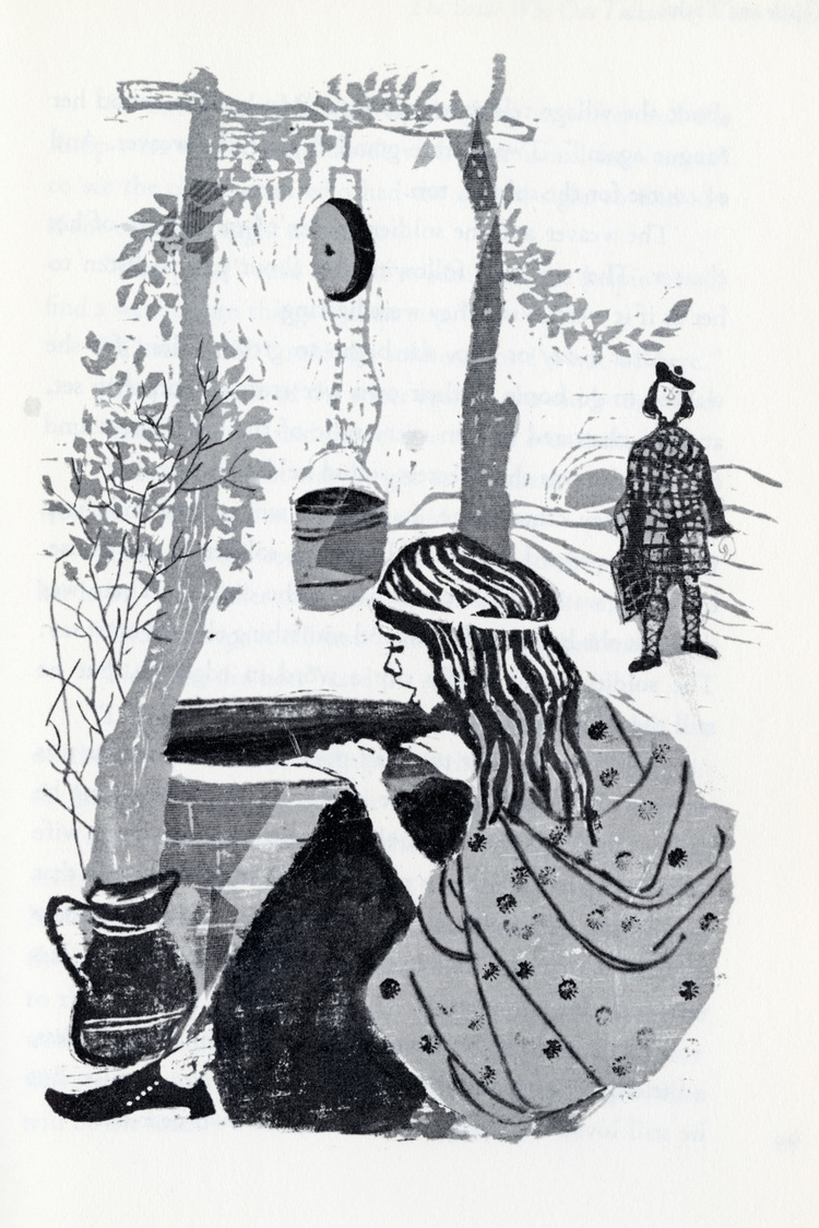 """Illustration from """"Thistle and Thyme: Tales and Legends from Scotland"""""""