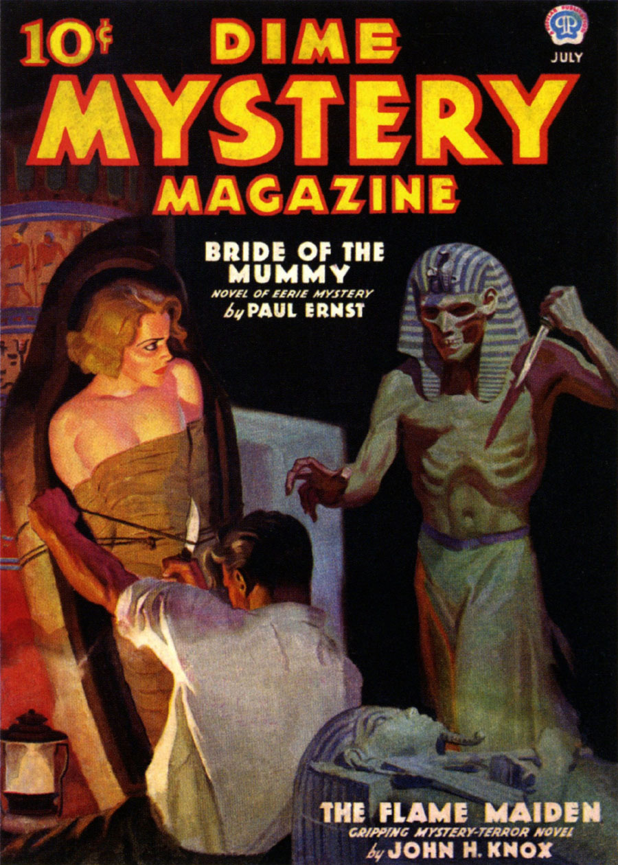 "Cover of ""Dime Mystery Magazine,"" July 1936"