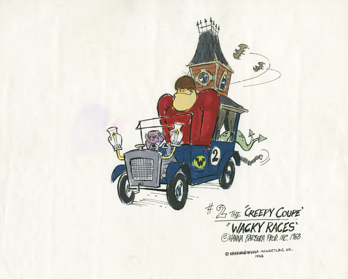 """Concept art for the """"Wacky Races"""" television series"""
