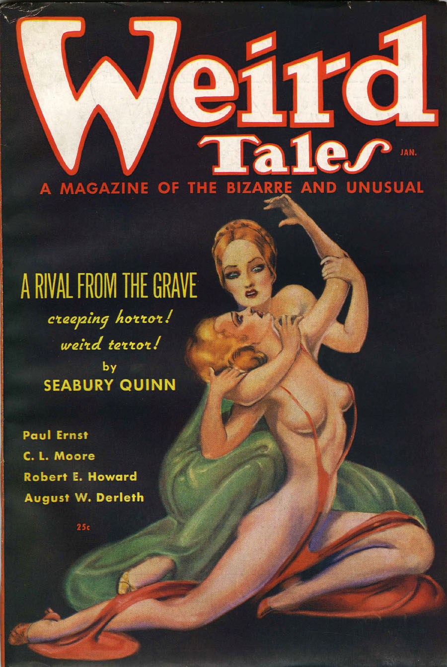 """Cover of """"Weird Tales,"""" January 1936"""