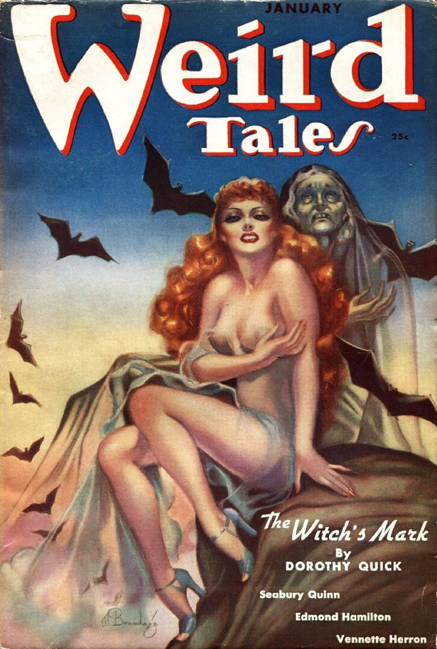 """Cover of """"Weird Tales,"""" January 1938"""