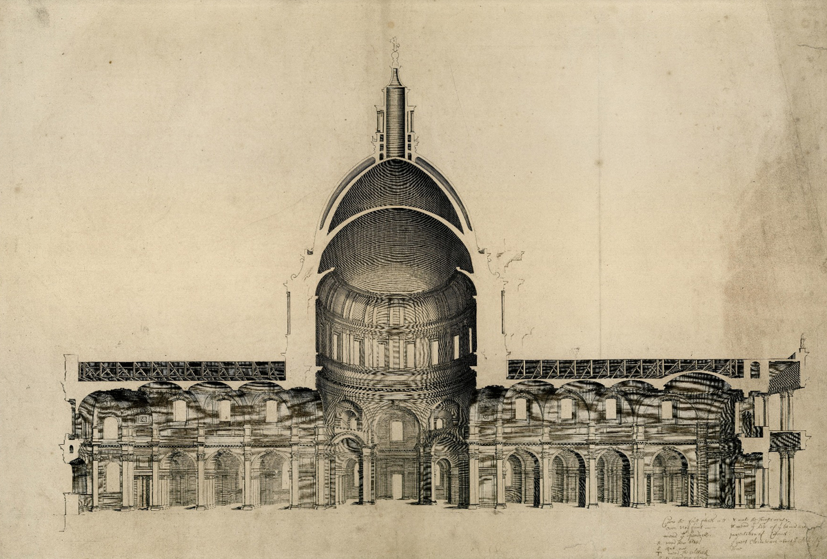 East-West Cross Section of St. Paul's Cathedral, London