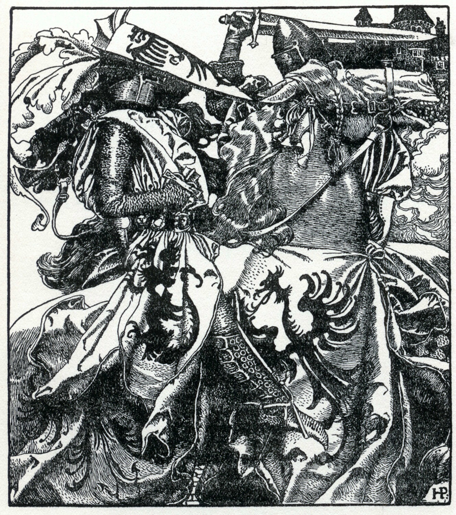 "Page from ""The Merry Adventures of Robin Hood"""