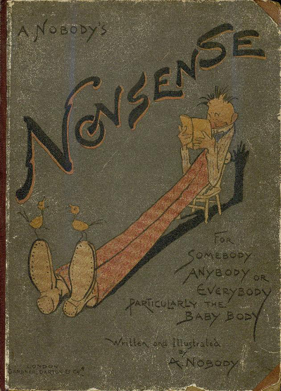"Book cover for ""Nonsense for Somebody, Anybody or Everybody, Particularly the Baby Body"""