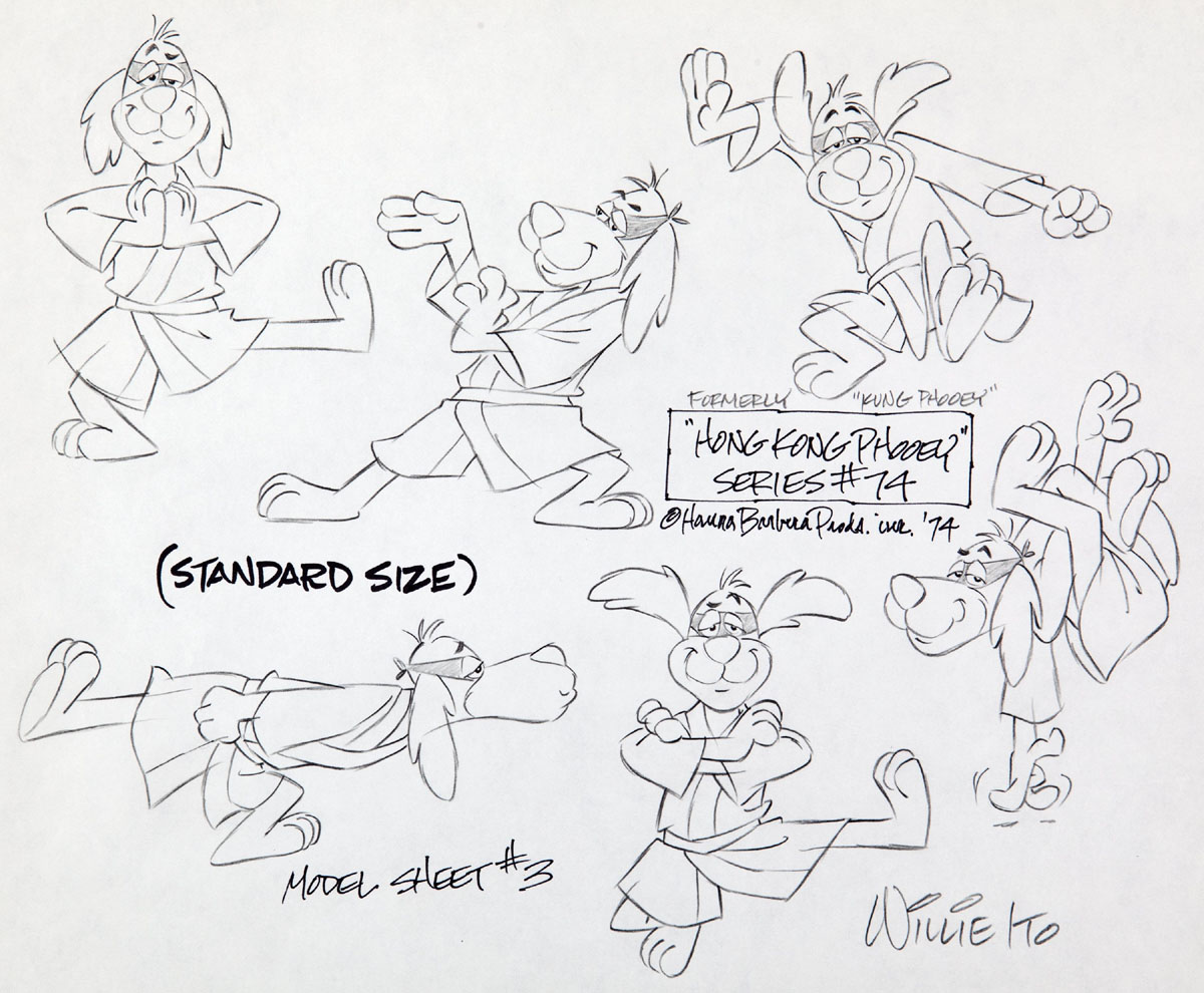 Model sheet of Hong Kong Phooey