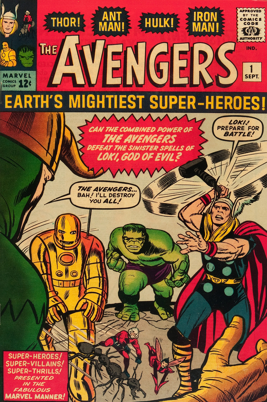 "Cover of ""The Avengers"" #1, September 1963"