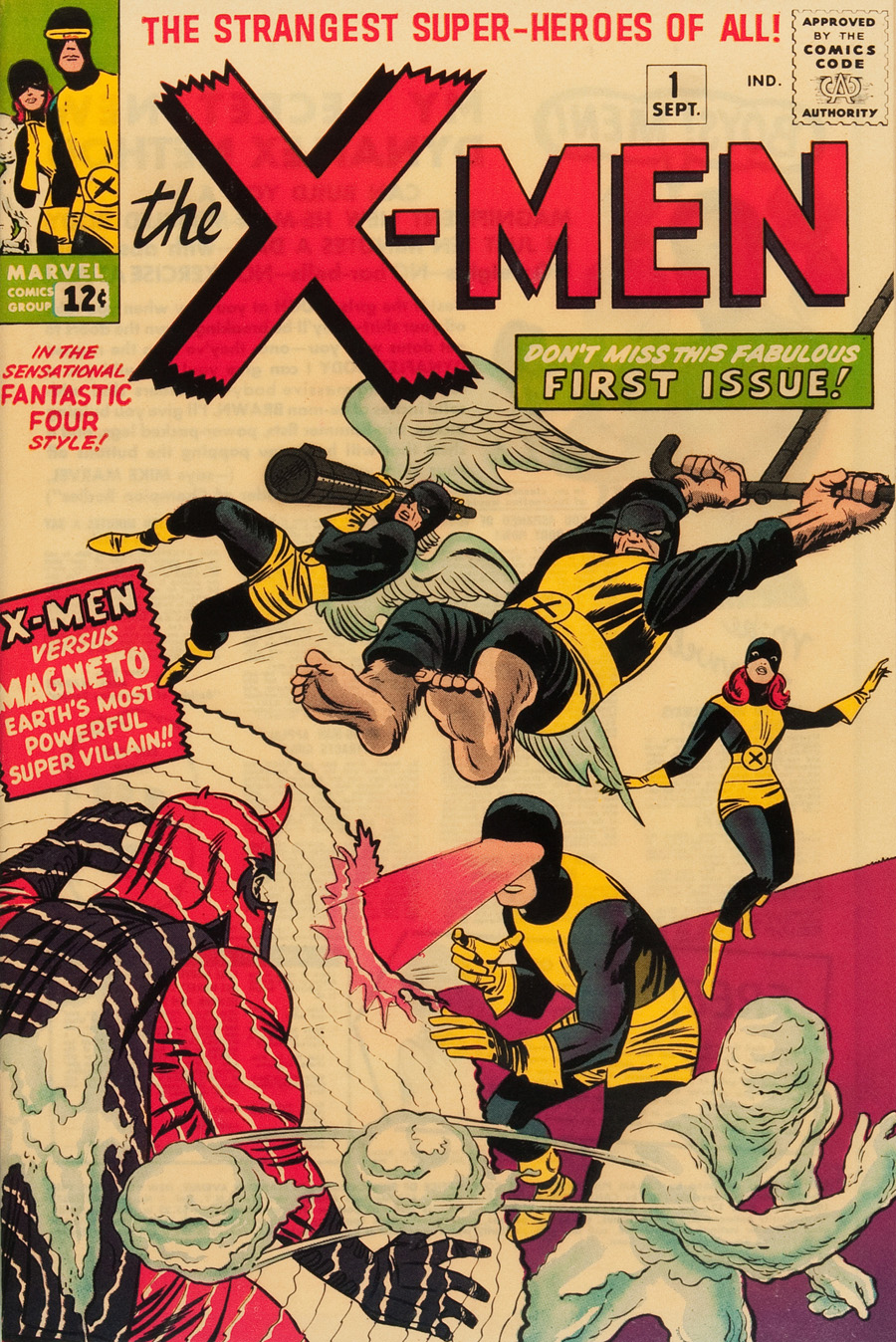 """Cover of """"X-Men"""" #1, September 1963"""