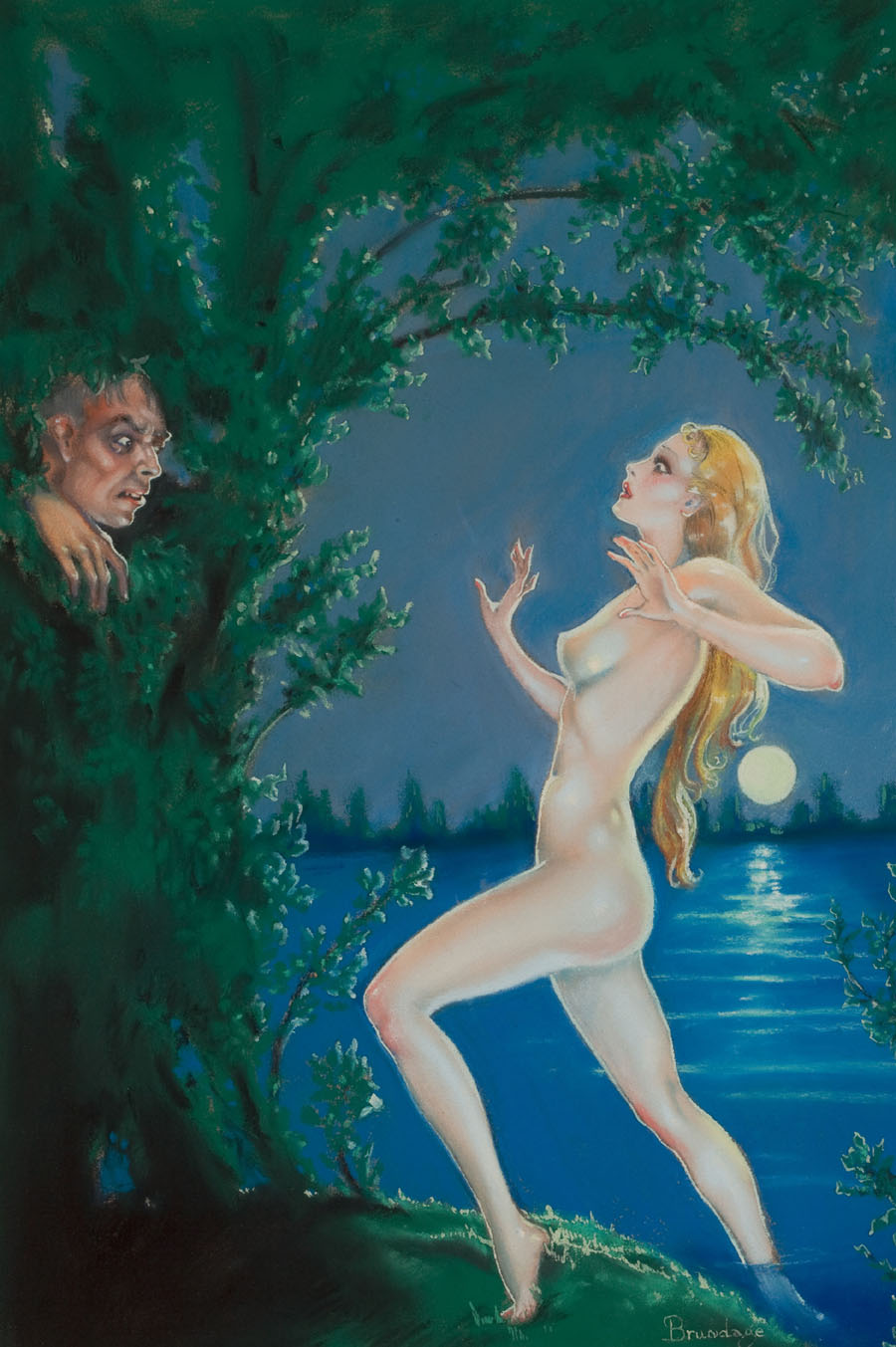 "Cover art for ""Weird Tales,"" September 1935"