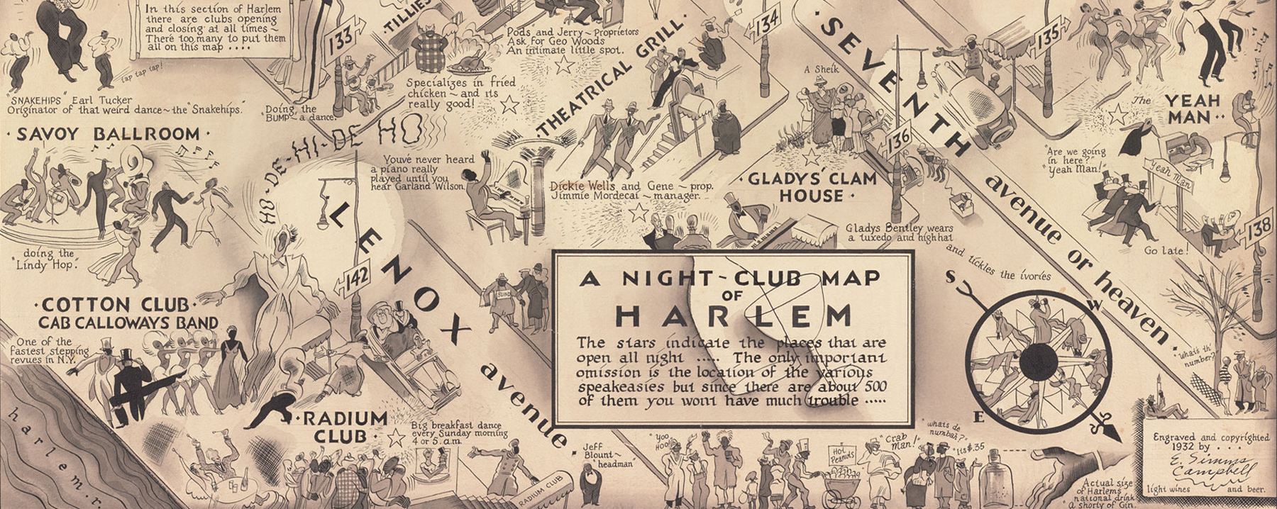 Night-Club Map of Harlem
