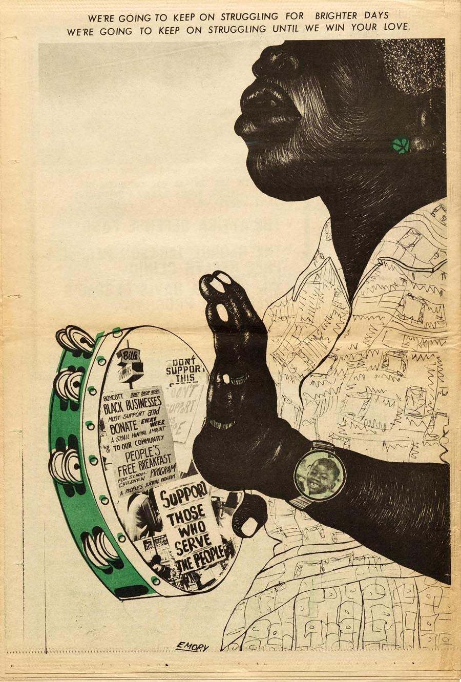 "Illustration for ""The Black Panther,"" October 4, 1971"