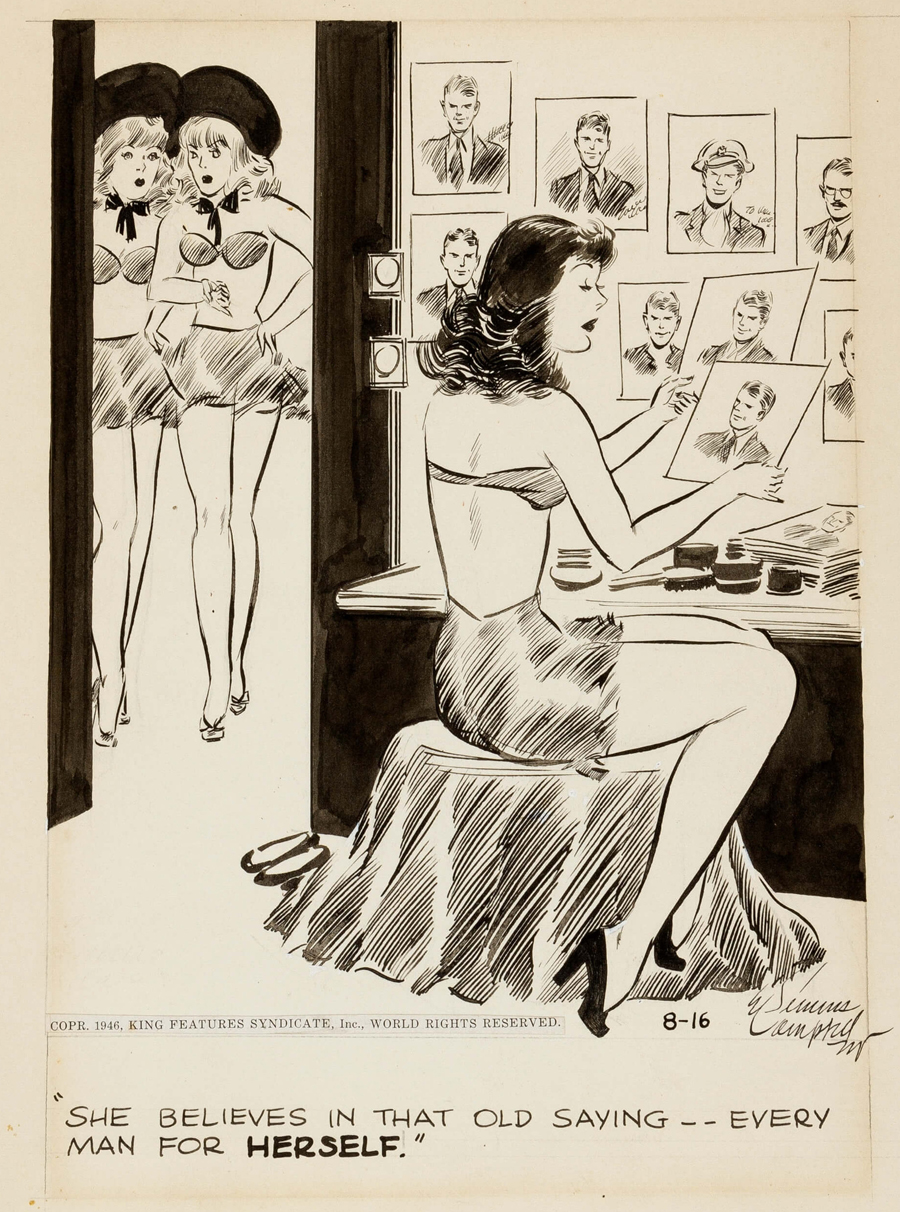 """Cuties"" comic strip, August 16, 1946"